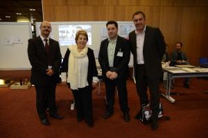 Mme Corinne Lepage en visite à Genève pour lancer la campagne #COP21